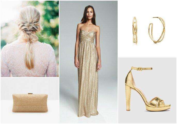 Look della settimana: sposa glitter