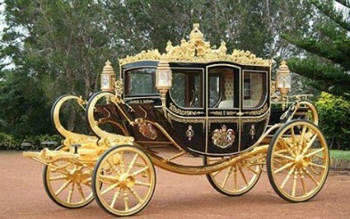 Carroza tirada por caballo para sentirse como una reina el día de su boda