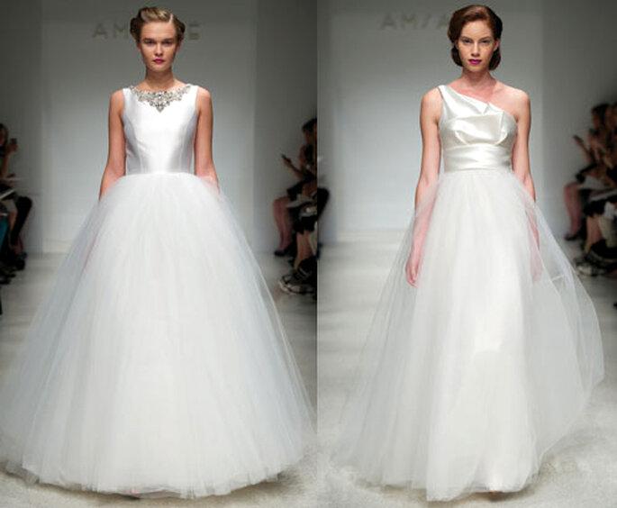 Vestidos de novia elegantes de seda y tul - Foto: Amsale Bridal