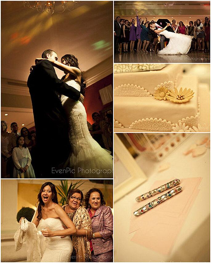 Detalles de la celebración de la boda junto a sus seres queridos. Fotos: Evenpic
