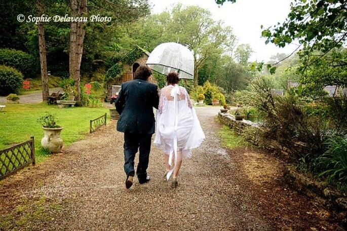 Mariage pluvieux, mariage heureux ! - Photo : Sophie Delaveau