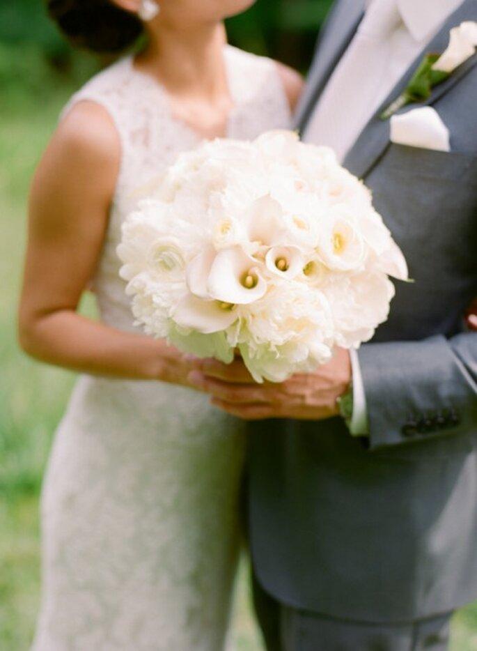 Ramo de novia 2014 en color blanco - Foto Abby Jiu