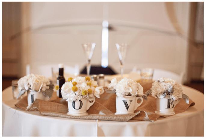 Decoración original para una boda vintage - Foto Joielala Photographie