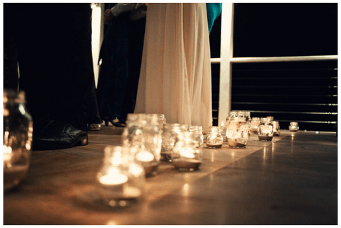Decoración de boda con velas - Foto Todd Hunter McGaw Photoraphy
