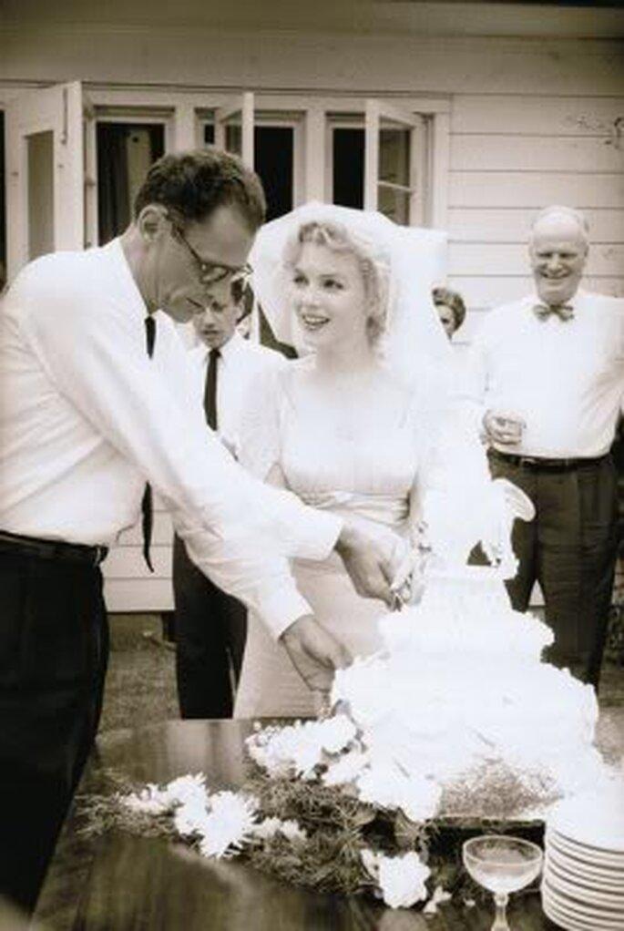 Marilyn Monroe e Arthur Miller em 1956