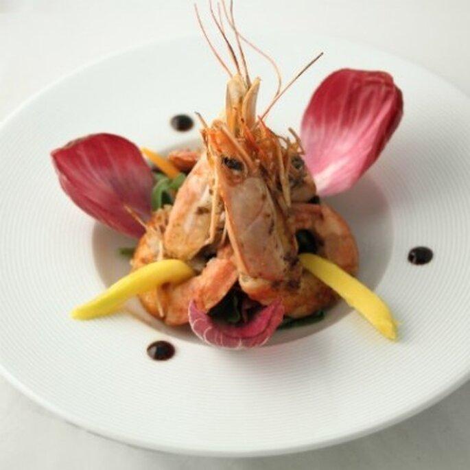 Les plats raffinés et audacieux font toujours sensation. - Photo : Globe Traiteur