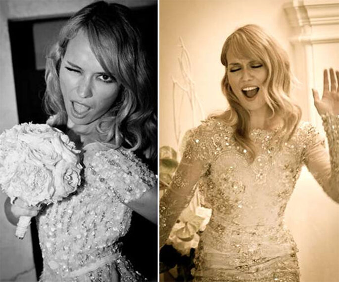 La presentadora lució dos vestidos en su boda, uno de Zuhair Murad y otro de Elie Saab. Foto: hola.com
