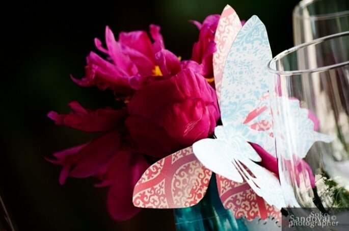 Butterfly centrepieces - Photo: Mischka Designs