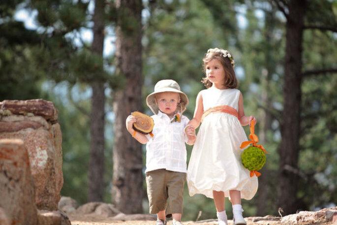 5 consejos de estilo para los pajecitos en el día de la boda. Foto- Becky Young