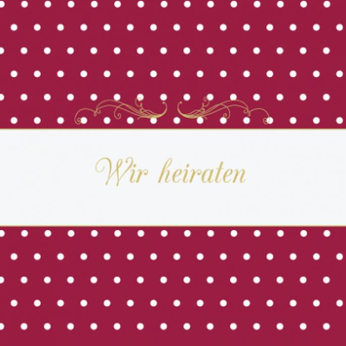 Wählen Sie einen Pinkton, der auch dem Bräutigam gefällt – Foto: www.hochzeitskarten-traum.de