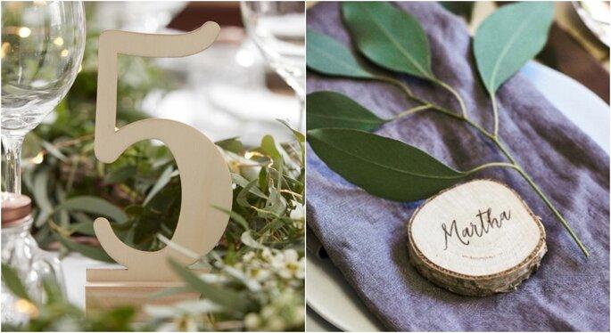 Decoración para bodas en jardines con madera