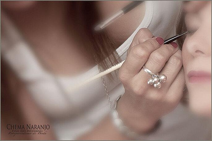 Preparativos de la novia previo a la boda. Foto de Chema Naranjo