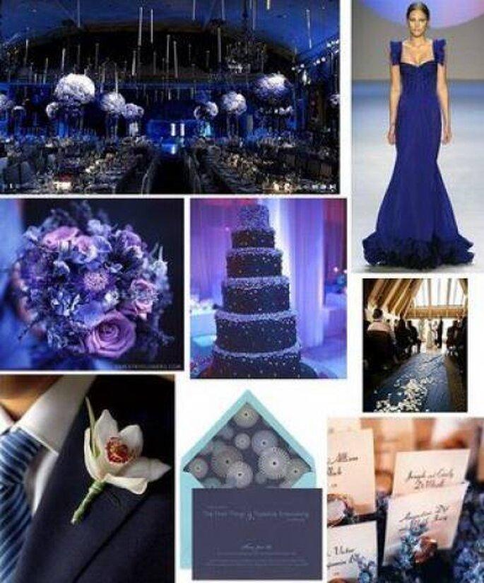 El azul es un color elegante y sofisticado para bodas. Foto: matrimoniemusica.it