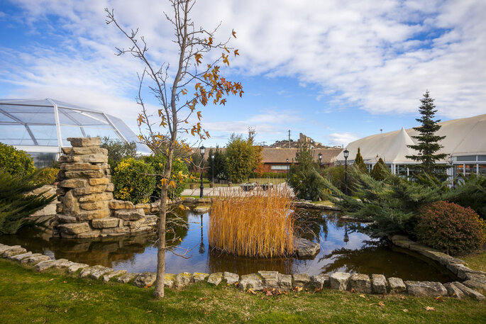 Los Jardines del Canal finca bodas Huesca