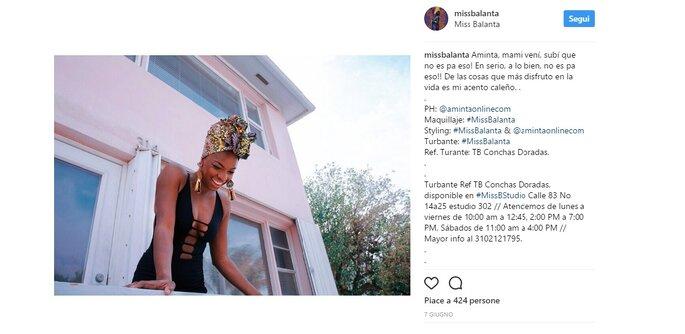 Foto via Instagram @missbalanta