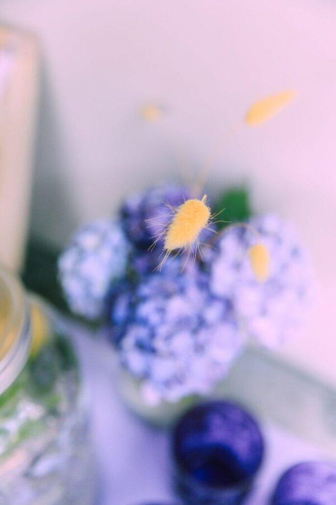 Liebevolle Blumen-Details bei der Hochzeit im Tessin.