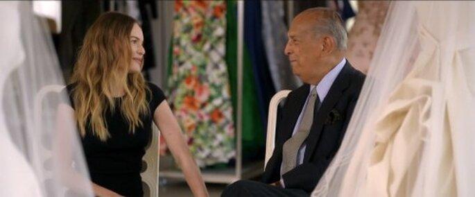 Oscar de la Renta diseñó el vestido de novia de Kate Bosworth - Foto Vogue YouTube