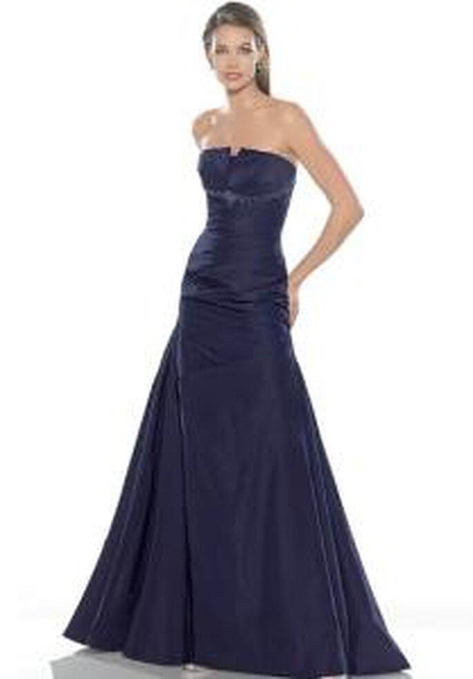 La Sposa 2009 - Vestido negro largo en tafetán, sin breteles