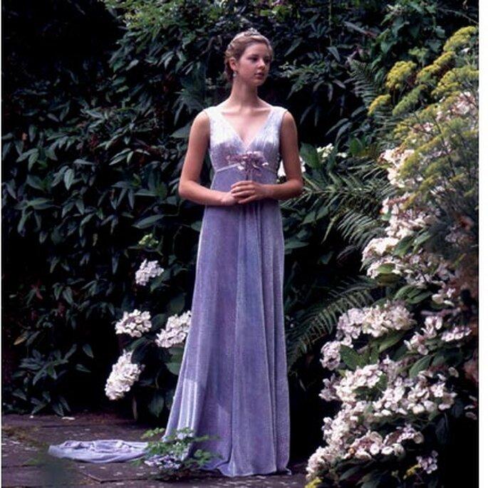 Delicadeza e ilusión en este vestido de novia lila