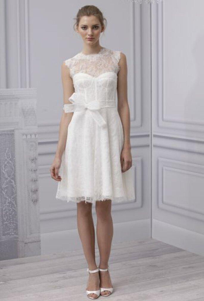 Weiß ist die klassische Farbe beim Brautkleid - MONIQUE LHUILLIER