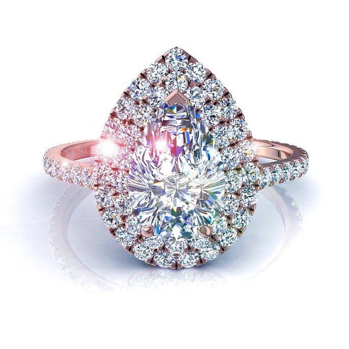 Anel de noivado diamante
