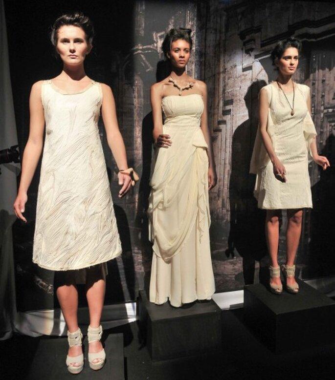"""Vestido de novia de la colección """"Querida Fina"""" de Trista - Foto Mercedes Benz Fashion Week México"""