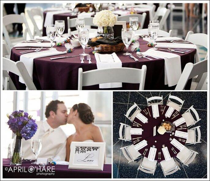 Procura que todos los elementos vayan a tono con el estilo de tu boda - Foto April O' Hare