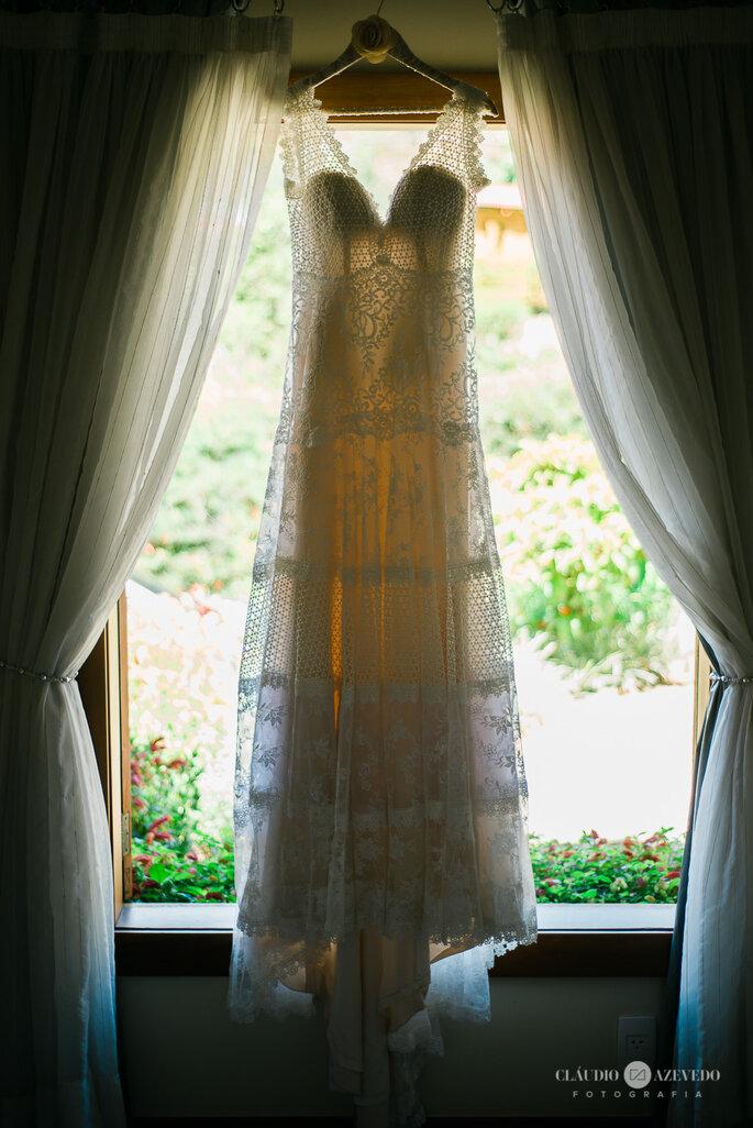 Lindo vestido rendado para noiva