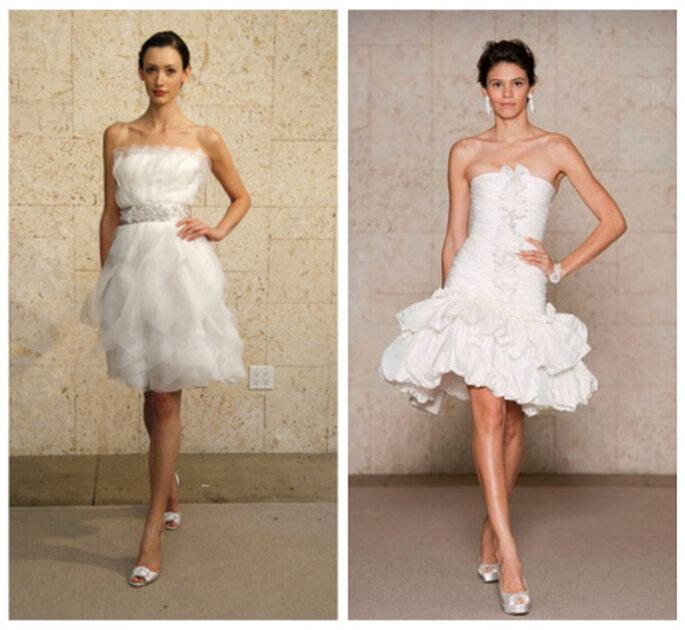 Robes de mariée courtes - Oscar de la Renta 2012