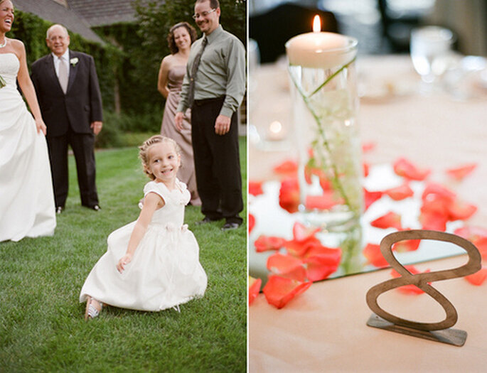 La decoración de la boda crea efectos maravillosos en los invitados. Foto: Amy Majors Photography