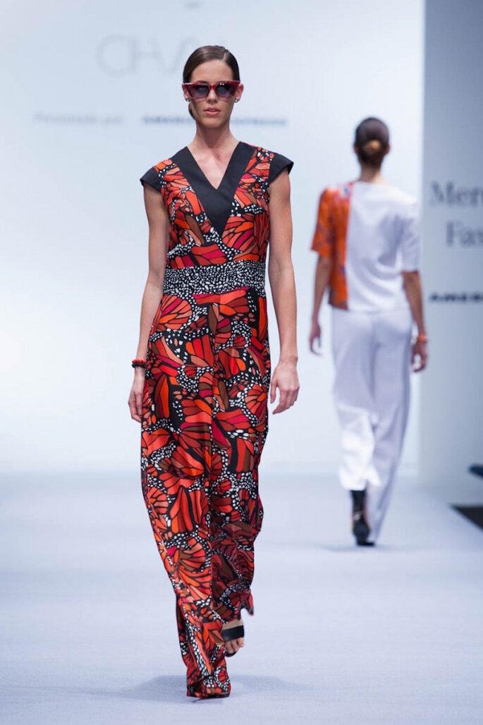 Vestidos de fiesta inspirados en la cultura mexicana - Pineda Covalín en Mercedes Benz Fashion Week México Oficial