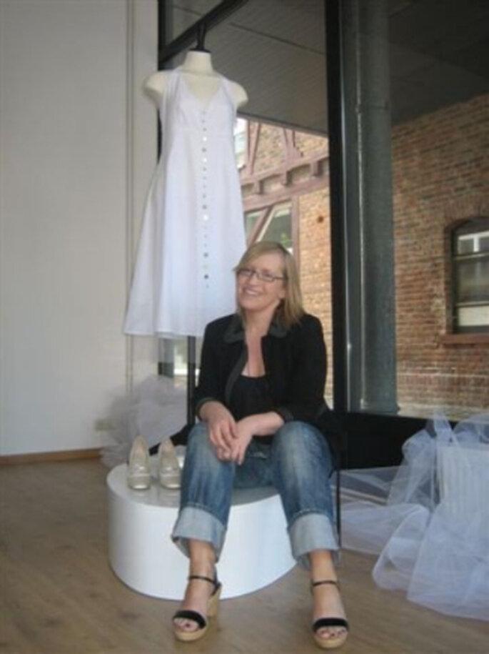 Angela Marion Stöckel in ihrem Atelier