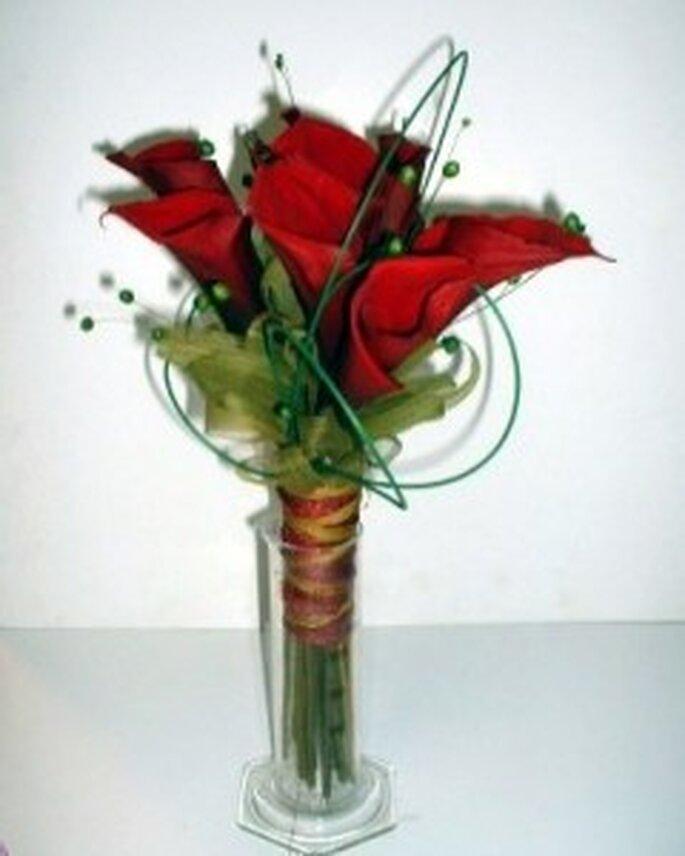 Calas rojas para ramos de novia