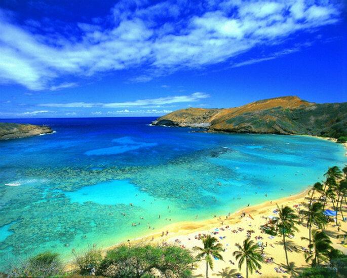 Lua de mel nas praias do Hawai