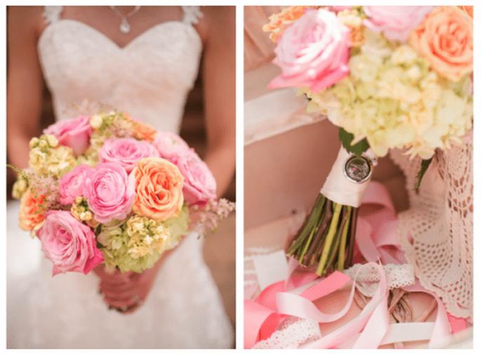 Concept ultra féminin pour ce bouquet de mariée 2013 - Photo Katelyn James