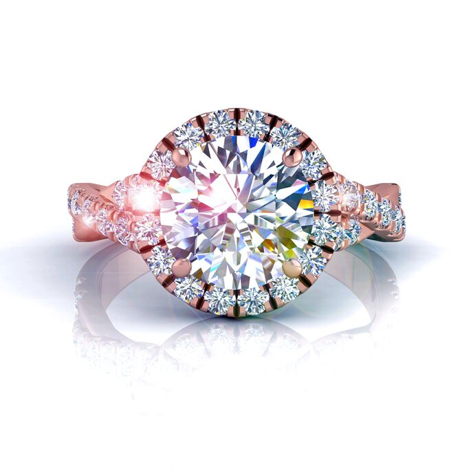 Anel de diamante exclusivo