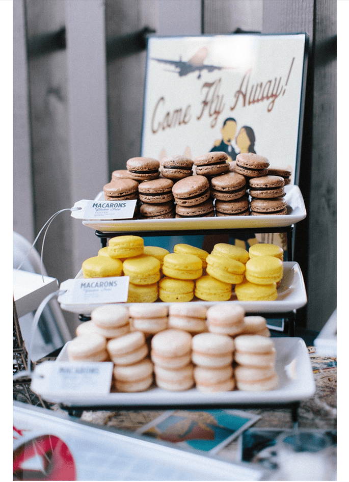 Macarons para el postre de tu boda - Foto Ashley Kelemen Photography