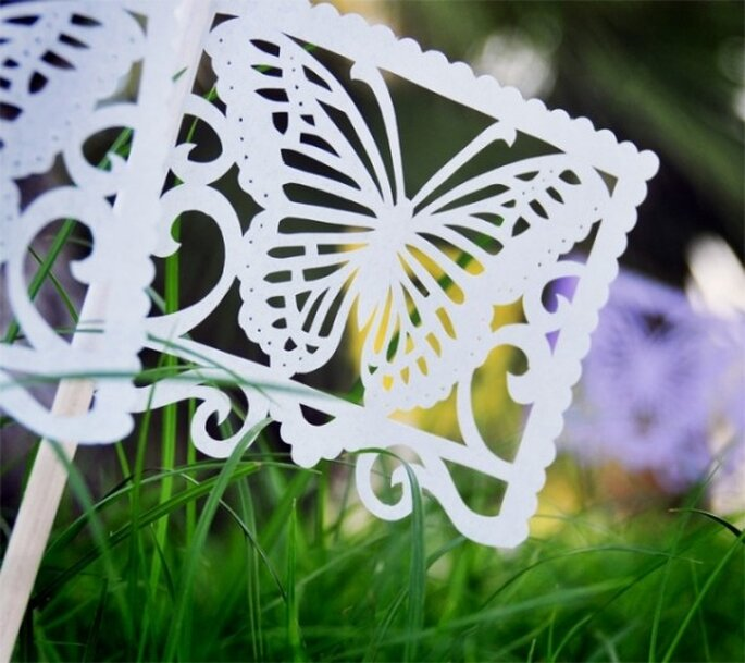 DIY paper butterflies - Photo: Ay Mujer