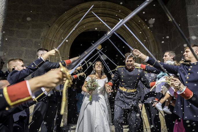pasillo de espadas boda