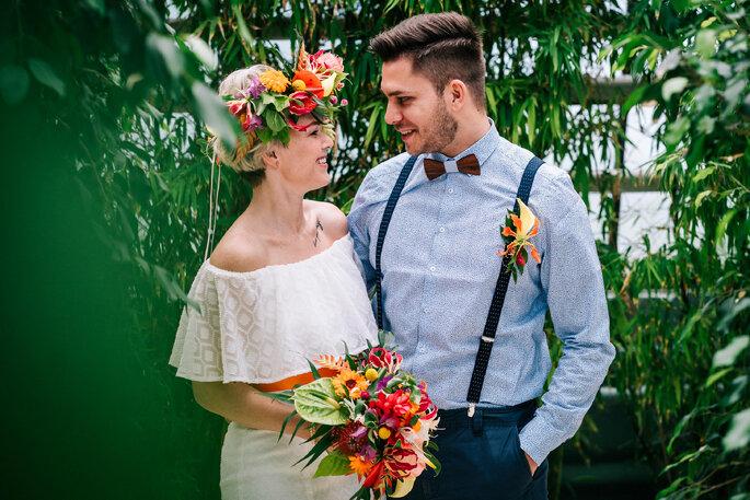 Hochzeitspaar Motto Tropical Hochzeit