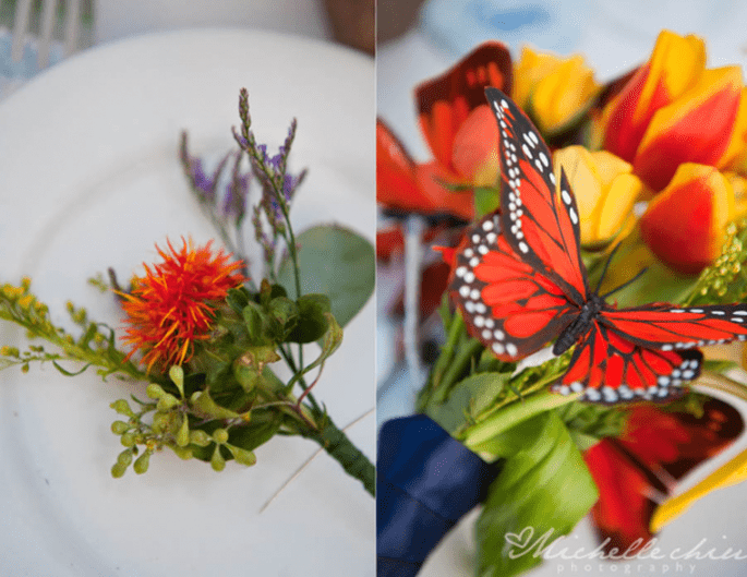 Butterfly decor - Photo: Michelle Chiu Photography