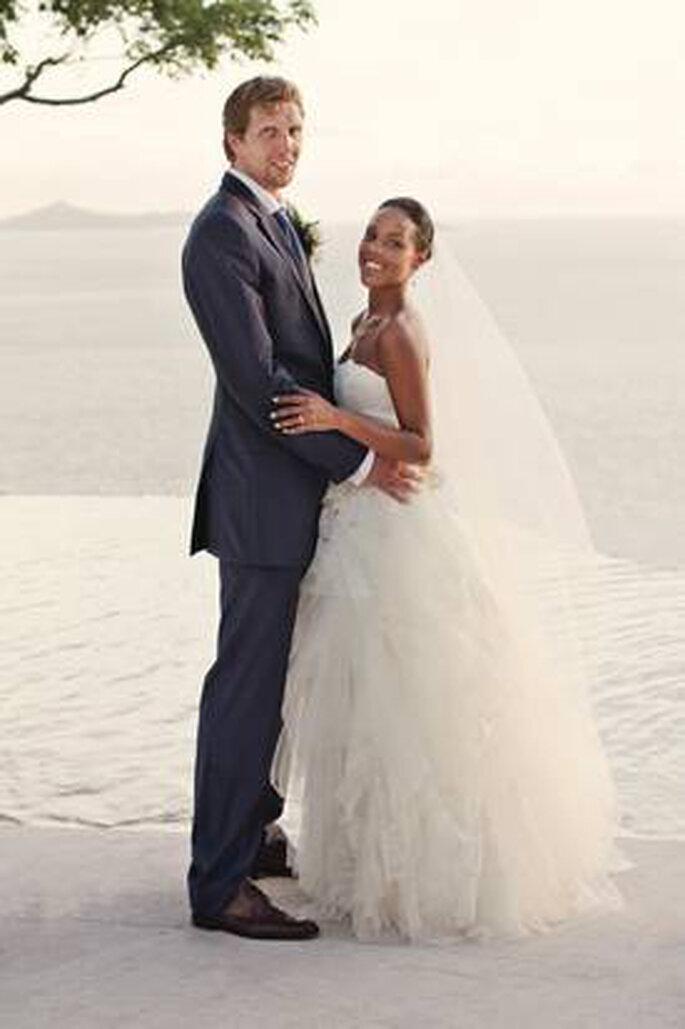 Foto oficial de la boda de Dirk Nowitzki y Jessica Olsson. Foto: Basket4us