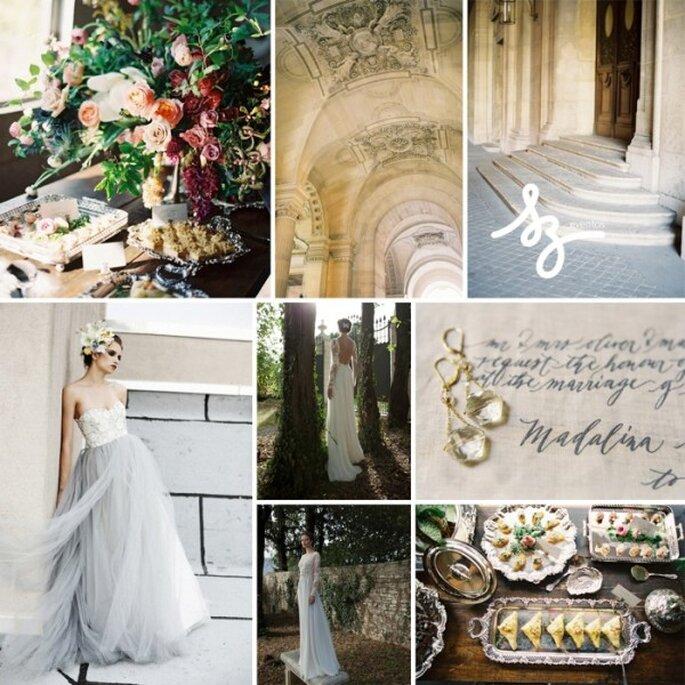 Inspiración para una novia glam - Fotos Rylee Hitchner, bridalmusings.com, stylemepretty.com - Diseño de Raisa Torres para SZ Eventos