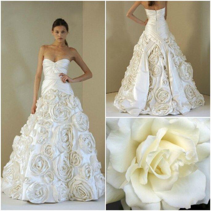 Von Rosen inspirierte Brautkleider lassen auch Hochzeitsgäste träumen –  Foto: DHgate Collage