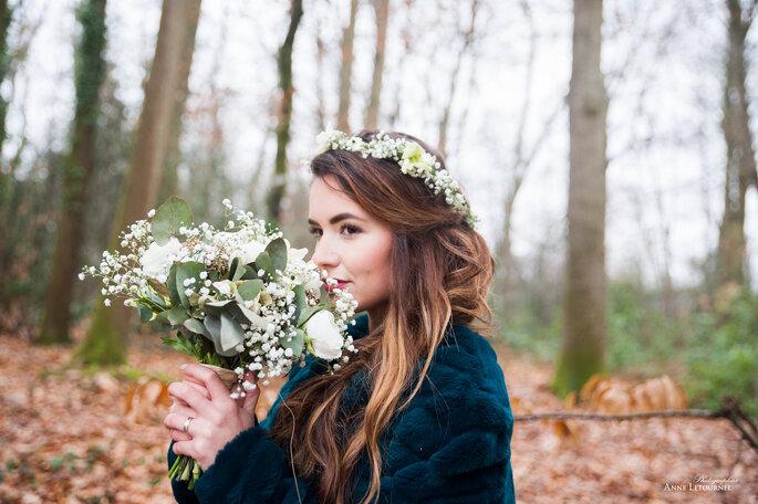 Maquillage et coiffure mariage naturels