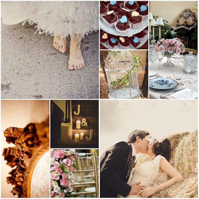 Detalles para una boda 'vintage', en el campo o la playa. Fotos: Fran Russo, Flavia Soares, Fran Cabades, Adrián Tomadín, Boutique Tres Decó y Concha Molina