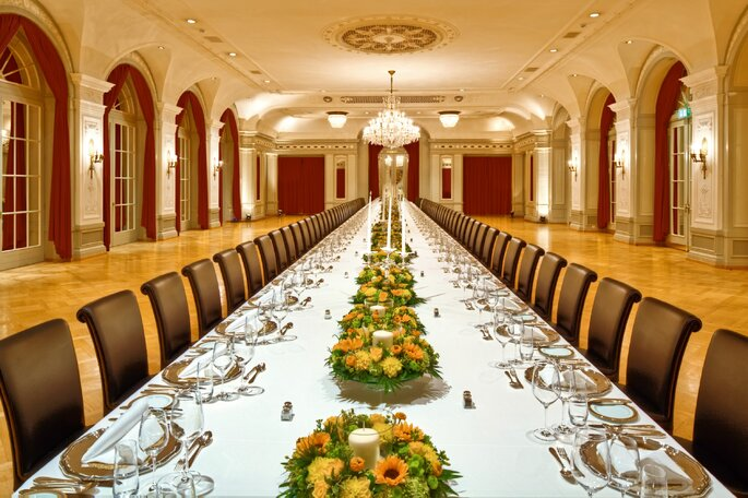 Bankett-Saal, Foto: Bellevue Palace Bern