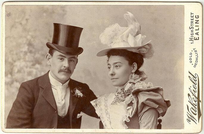 Pareja en el 1900. Foto: James Morley