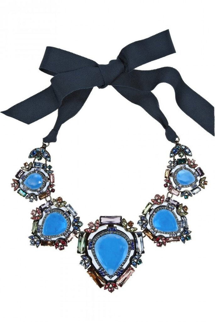 Statement necklaces para novia en tendencia - Foto Lanvin