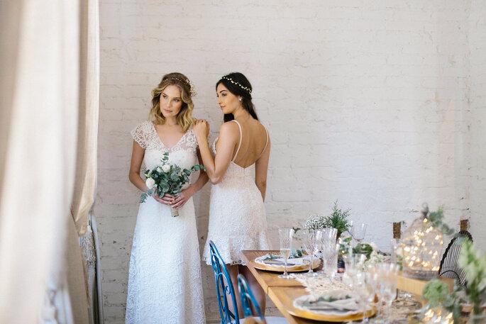 Vestido de noiva em renda